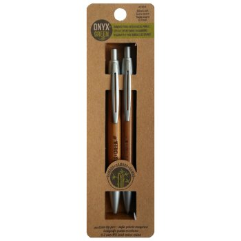 Bamboo Pen & Mechanical Pencil Set - Black Ink/0.7mm Lead