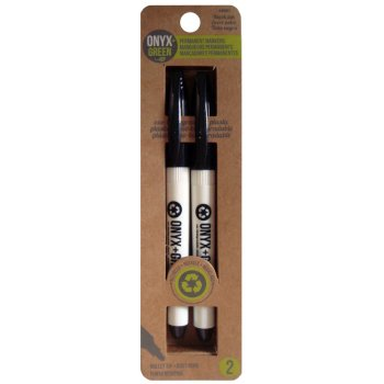 Recycled Permanent 5mm Markers - 2 Pack - Black Ink