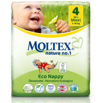 Moltex Nature Disposable Nappies - Maxi - Size 4 - Pack of 30