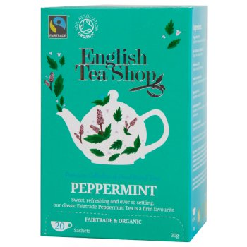English Tea Shop Organic and Fairtrade Peppermint Tea - 20 Bags - Sachets