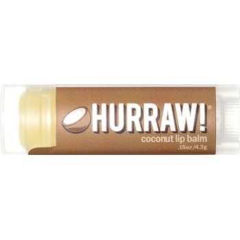 Hurraw! Organic Vegan Lip Balm - Coconut - 4.3g