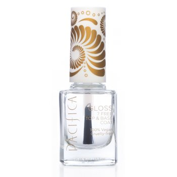 Pacifica 7 Free Vegan Nail Polish - Clear Top & Base Coat - 13.3ml