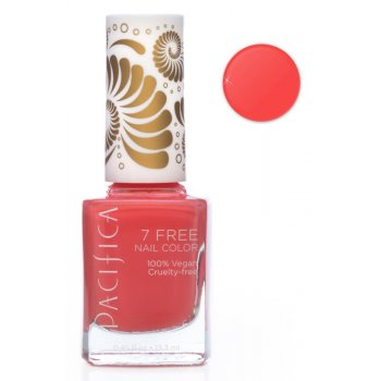 Pacifica 7 Free Vegan Nail Polish - Totally Coral - 13.3ml
