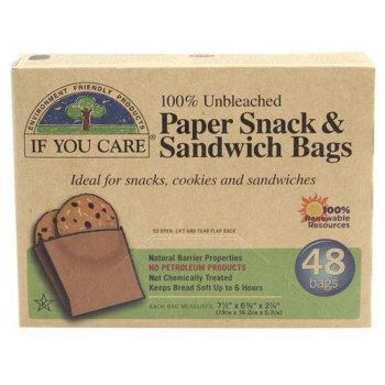 If You Care Paper Sandwich Bags - 48 Bags