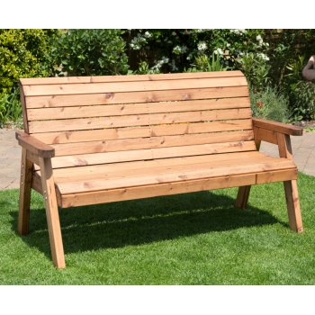 Traditional Outdoor Three Seater Bench - HB20