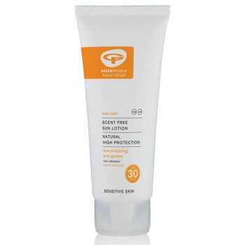 Green People Travel Size Scent Free Sun Lotion - SPF30 - 100ml
