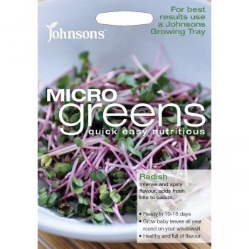 Johnsons Microgreens Seeds - Radish