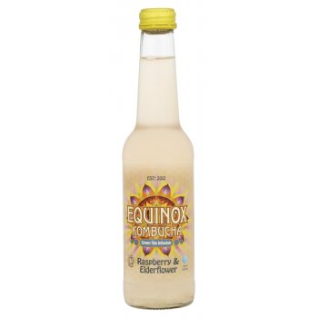 Equinox Kombucha Organic Fair Trade Raspberry & Elderflower Green Tea Drink - 275ml