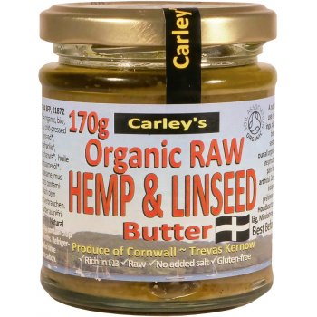 Carleys Organic Raw Hemp & Linseed Butter - 170g