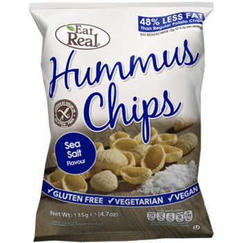 Eat Real Hummus Gluten Free Sea Salt Crisps - 135g