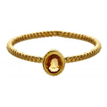 Marzipants 18ct Gold Ring - Citrine