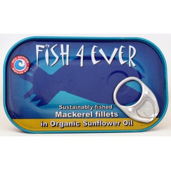 Fish 4 Ever Mackerel Fillet In Sunflower Oil - 120g