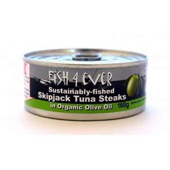 Fish 4 Ever Skipjack Tuna Chunks In Olive Oil - 160g