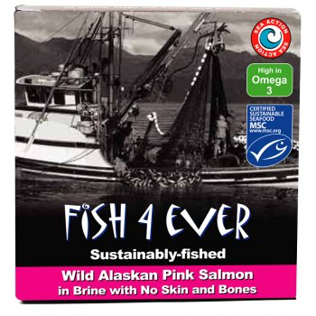 Fish 4 Ever Wild Pink Salmon In Brine - 160g