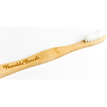 Humble Brush Adult Bamboo Toothbrush - Soft - White