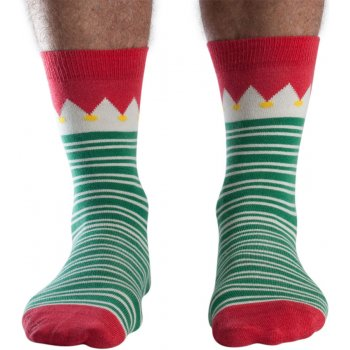 Doris & Dude Green Stripe Christmas Bamboo Socks - UK7-11