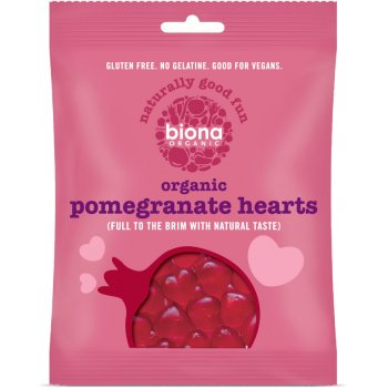 Biona Organic Pomegranate Heart Sweets - 75g