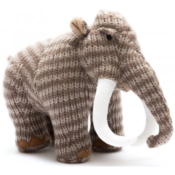 Woolly Mammoth Dinosaur Soft Toy - Striped