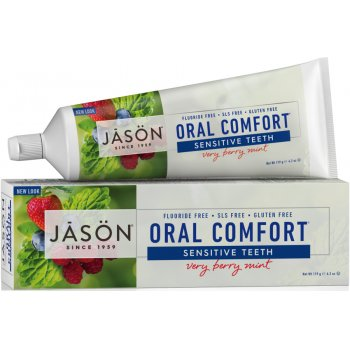Jason Oral Comfort Fluoride Free Soothing Toothgel- Berry & Mint - 122g