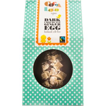 Cocoa Loco Crystalised Ginger Dark Chocolate Easter Egg - 225g