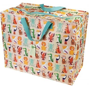 Recycled Jumbo Storage Bag - Colourful Creatures
