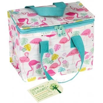 Recycled Lunch Bag - Flamingo Bay