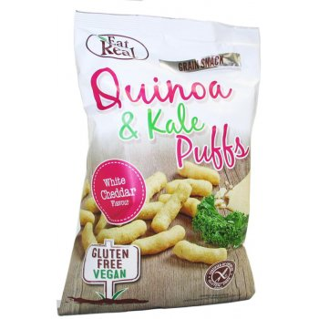 Eat Real Quinoa Kale Puffs - White Cheddar - 113g