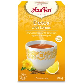 Yogi Ayurvedic Organic Detox Tea with Lemon - 17 bags
