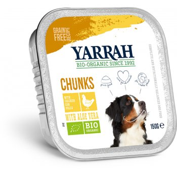 Yarrah Organic Dog Food - Chicken Chunks With Aloe Vera 150g