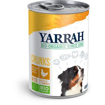 Yarrah Organic Dog Food - Chicken Chunks With Nettle & Tomato 405g