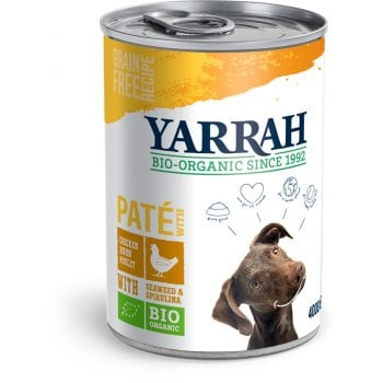 Yarrah Organic Dog Food - Chicken Pate With Spirulina & Seaweed 400g