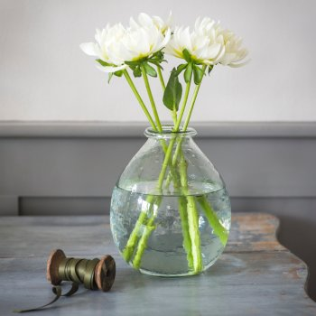Recycled Large Glass Vase