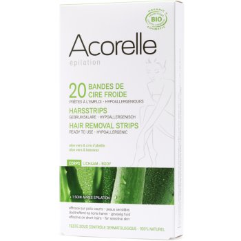 Acorelle Ready to use Strips - Legs - Aloe Vera & Beeswax - 20 strips