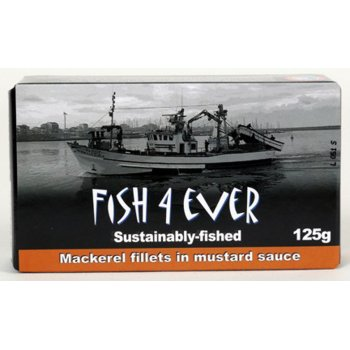 Fish 4 Ever Mackerel Fillets in Mustard Sauce - 125g