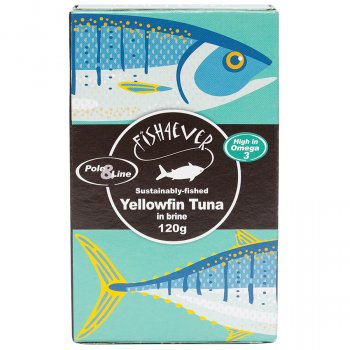 Fish 4 Ever Yellowfin Tuna Fish in Brine - 120g