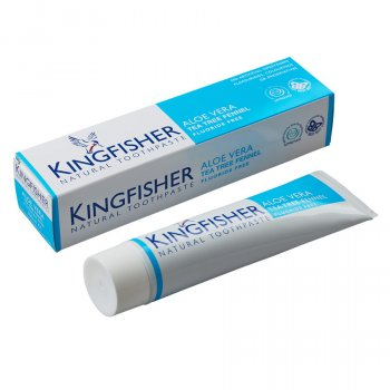 Kingfisher Fluoride Free Toothpaste - Aloe Vera, Tea Tree & Fennel - 100ml