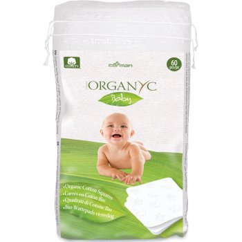 Organyc 100 percent  Organic Cotton Squares - Pack Of 60