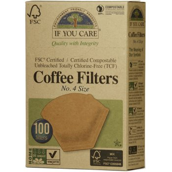 If You Care Compostable Unbleached Coffee Filters No.4 - 100 Filters