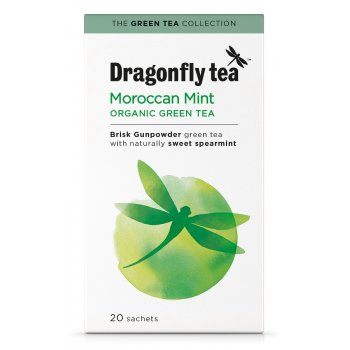 Dragonfly Teas Organic Moroccan Mint Green Tea - 20 Bags