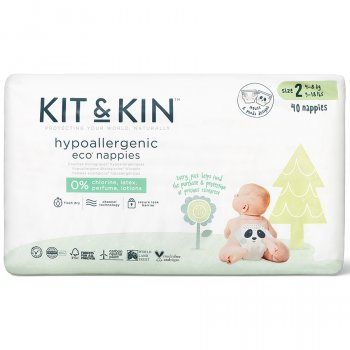 Kit & Kin Disposable Nappies - Midi Size 2 - Pack of 40