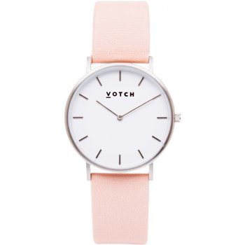 Votch Classic Collection Vegan Leather Watch - Silver