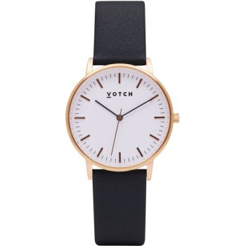 Votch New Collection Vegan Leather Watch - Black & Rose Gold