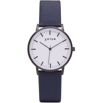 Votch New Collection Vegan Leather Watch - Black & White