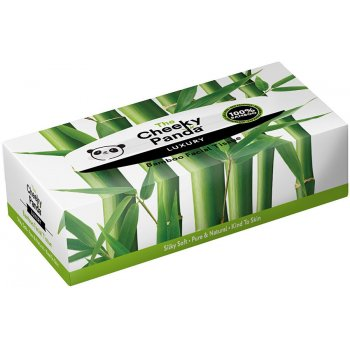 The Cheeky Panda Luxury Bamboo Facial Tissue - Box of 80