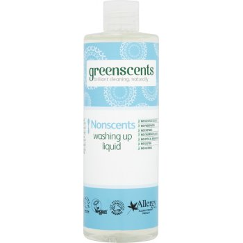 Greenscents Washing Up Liquid - Unscented - 400ml