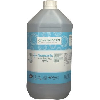 Greenscents Organic Surface Spray - Unscented - 5L