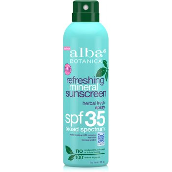 Alba Botanica Refreshing Mineral Sunscreen Spray SPF35 - 177ml