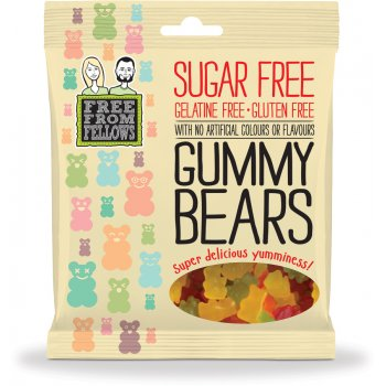 Free From Fellows Vegan Sugar Free Gummy Bear Sweets - 100g