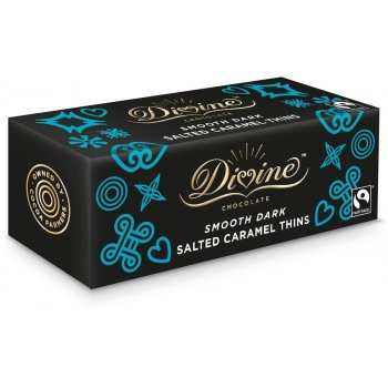 Divine Dark Chocolate Salted Caramel Thins - 200g