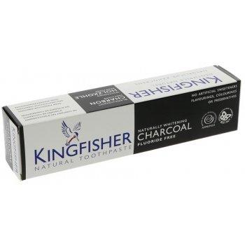 Kingfisher Charcoal Whitening Fluoride Free Toothpaste - 100ml